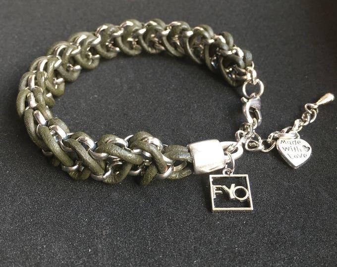 Free shipping within en bracelet bracelet leather jasserron braided dqmetaal ladies Bracelet