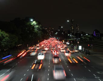 Rush Hour in Buenos Aires. Photography Print