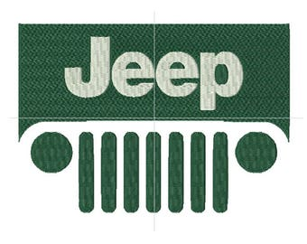 Jeep embroidery design, machine embroidery designs, instant download, 6 sizes, embroidery designs
