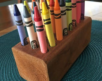 Mahogany Crayon Holder
