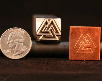 Valknut Hand Stamp for Blacksmith, Artist,Leather, Jewelry