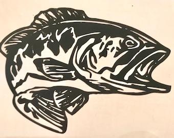 Bass Fish Decal