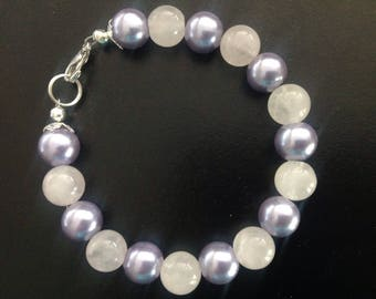 Pearl and Rose Quartz Bracelet