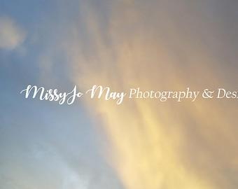 Orange Cloud Sky Overlay