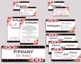 Piphany Marketing Kit, Piphany Starter Bundle, Custom Piphany Package, Piphany Card, Floral Flower Card, Printable Cards - Digital file PP07