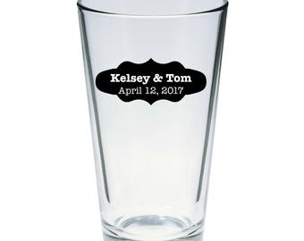 Personalized Pint Glasses 16 oz.