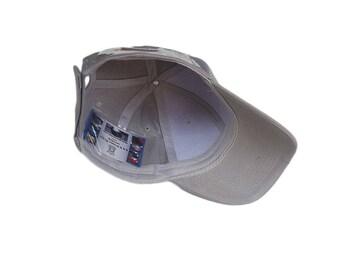 Light Gray Baseball Hat with Pocket