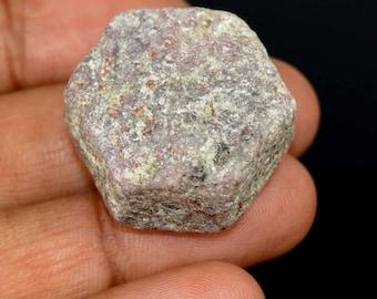 139.20 Ct. Natural Untreated Hexagon Cut Ruby Corrundum Gemstone Rough