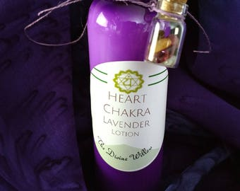 Heart Chakra Lavender Lotion with Watermelon Tourmaline Crystals