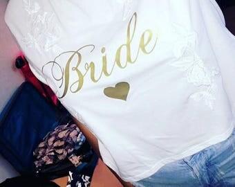 Wedding bride bridesmaid transfer iron on t shirt hen party