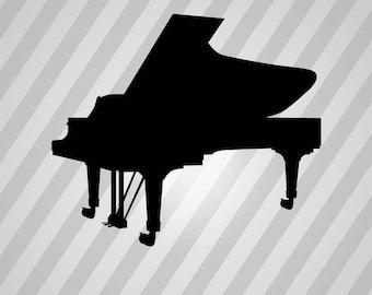 Piano Silhouette Pianos- Svg Dxf Eps Silhouette Rld RDWorks Pdf Png AI Files Digital Cut Vector File Svg File Cricut Laser Cut