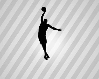 basketball Silhouette - Svg Dxf Eps Silhouette Rld RDWorks Pdf Png AI Files Digital Cut Vector File Svg File Cricut Laser Cut