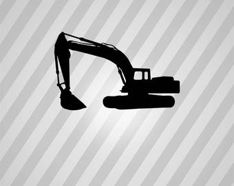 caterpillar excavator Silhouette - Svg Dxf Eps Silhouette Rld RDWorks Pdf Png AI Files Digital Cut Vector File Svg File Cricut Laser Cut