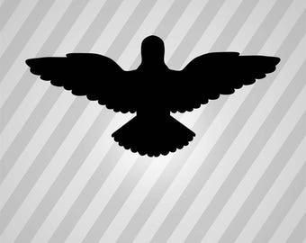 Holy Spirit Silhouette Angel  - Svg Dxf Eps Silhouette Rld RDWorks Pdf Png AI Files Digital Cut Vector File Svg File Cricut Laser Cut