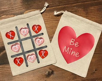 Valentines Tic Tac Toe Bags