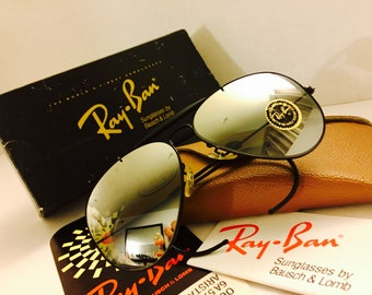 Vintage New Aviator Outdoorsman  Ray Ban Double Gradient Mirrored NOS Bausch & Lomb USA  BL 62mm w/ case