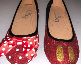 Minnie and mickey inspired odd shoes-wedding-prom-fun