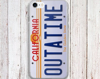 Clear iPhone Case - Back to the Future Phone Case - outatime Phone case - iPhone
