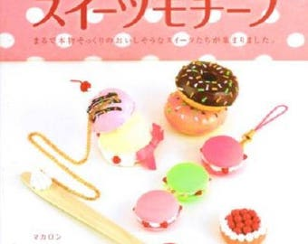 Clay Sweets Motif - Japanese Craft Book - Used