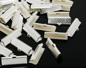 lot 20 ties Ribbon clasp claw 20 x 8 mm