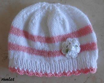 Baby's rose bonnet flower