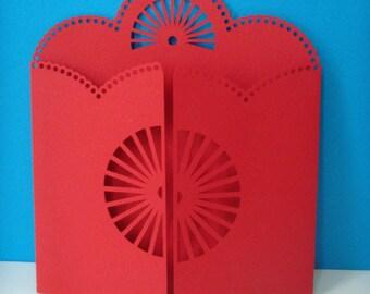 Red half circle to create gate card