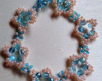Bracelet pink and blue stars