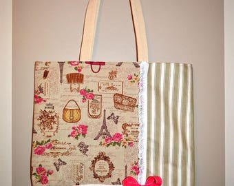 Bag retro Paris theme