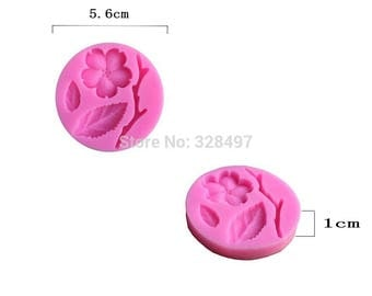 Branch leaf silicone mold for polymer clay