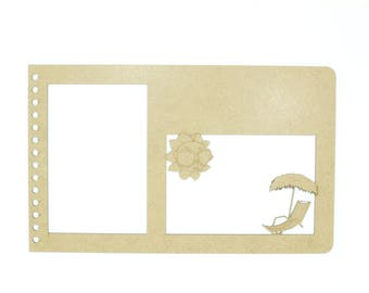 Couverture pour album photo scrapbooking, réalisé en médium de 3mm