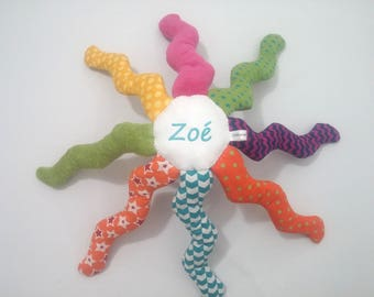 Octopus plush toy personalized (name embroidered)