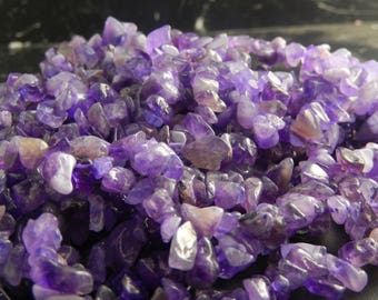 100 light purple natural Amethyst chips
