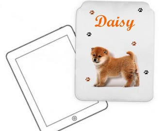 Cover for tablet pc Akita personalized with name
