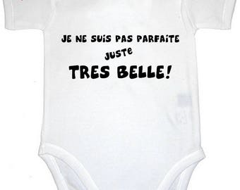 Funny baby Bodysuit I'm not perfect just very nice