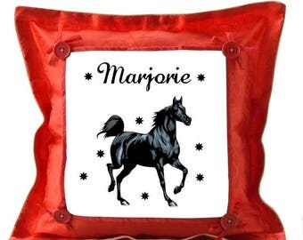 Red pillow horse personalized with name