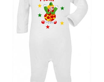 Pajamas baby Clown personalized with name