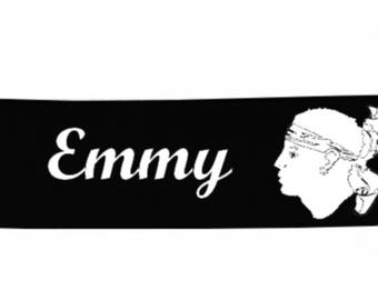 Black baby Corsica personalized with name banner