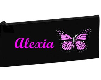 Kit school black Butterfly personalized with name