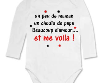 Funny baby Bodysuit just a tad of Dad, MOM and...