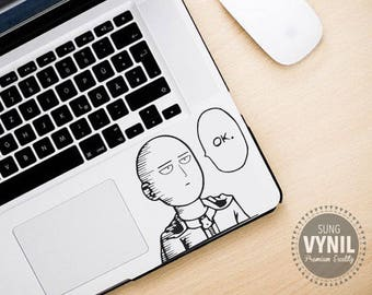 One Punch Man -- Saitama Anime Decal Sticker for consoles, computers, tablets, laptops, cellphones, car window