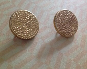 Set of two buttons round vintage 50s - 60s