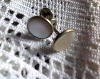 Pair of vintage buttons, cuff or collar