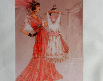 transfer 119. set of textile transfer: STYLE fashion elegance and sophistication