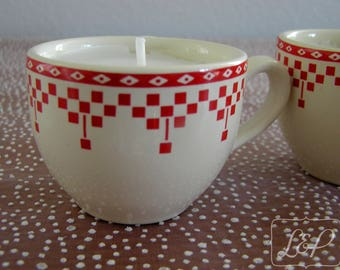 Candle in Cup earthenware n9