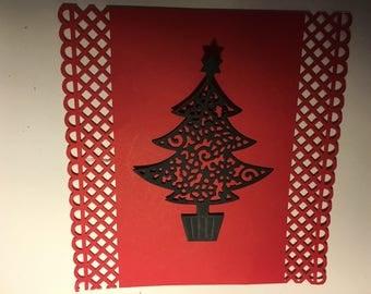 Christmas tree cutout scrapbooking