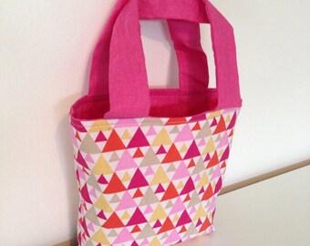 Mini handbag pink graphic