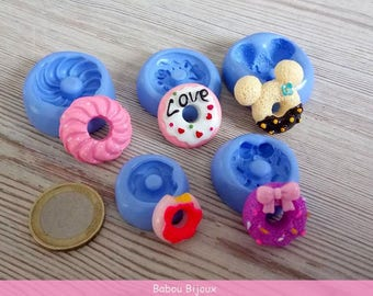 New molds donust in a very delicious set of 5 pretty donust