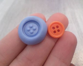 New! Mold button ;) 1 cm for your polymer clay creations