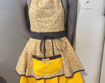 apron woman chic, unique handmade apron, liberty fabric, Christmas gift