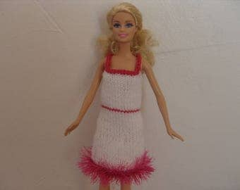 Dress in white and pink Barbie doll